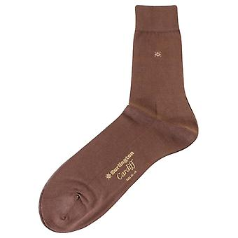 Burlington Cardiff Socks - Chocolate Brown