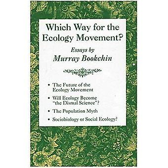 Que de manera para el movimiento de la ecología?: textos de Murray Bookchin