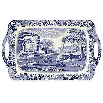 Pimpinela azul italiana grande bandeja com alças, 48 x 29,5 cm