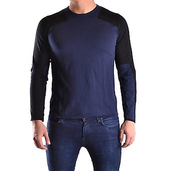 Neil Barrett Ezbc058030 Men's Blue Cotton Sweater