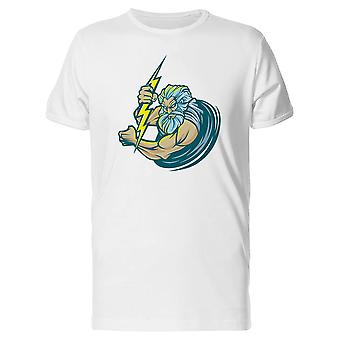 Zeus With Yellow Thunder Tee Men's -Image by Shutterstock