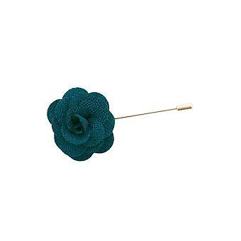 Dobell Mens Royal Blue Flower Lapel Pin för kostym, kavaj, Blazer, bröllop tillbehör