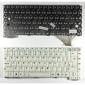 Fujitsu סימנס K001727B-2 לבן בבריטניה החלפת פריסה מקלדת מחשב נייד