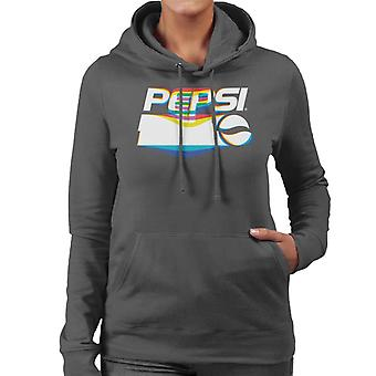 Pepsi Warp Glitch Logo Women's Hooded Sweatshirt