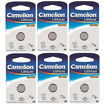 6-pack Camelion Battery CR1632 Lithium 3V