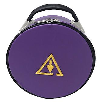 Royal & Select Cryptic Masonic Hat/Cap Case Purple