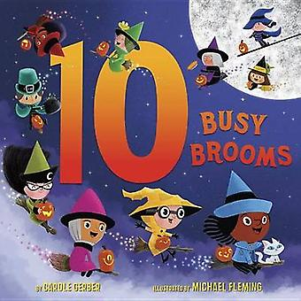 10 Busy Brooms by Carole Gerber - Michael Fleming - 9780553533415 Book