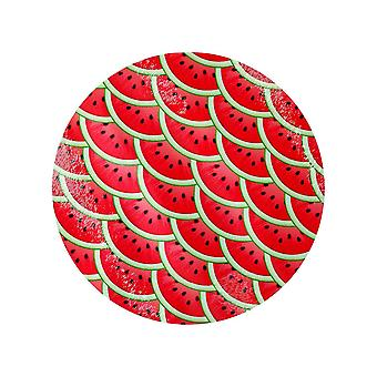 Grindstore Watermelon Slices Circular Glass Chopping Board