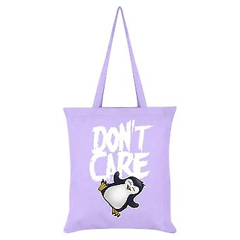 Psycho Penguin Don`t Care Tote Bag