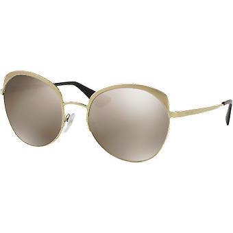 Prada SPR54S gold metallic clear mirrored brown gold