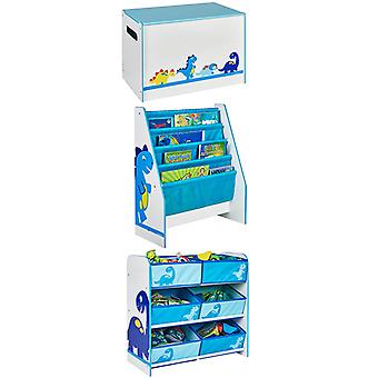 Dinosaurs Bedroom Furniture Storage Set