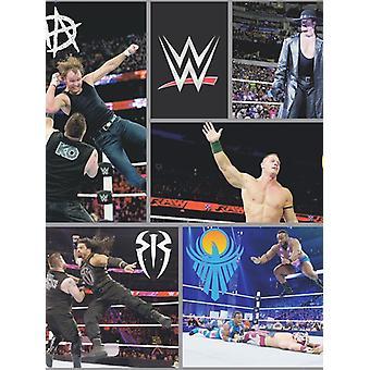 WWE Wrestling wallpaper zwart WP4-WWE-BLK-12