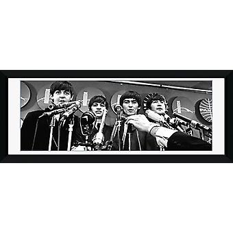 Beatles intervjun inramade Collector Print 75x30cm