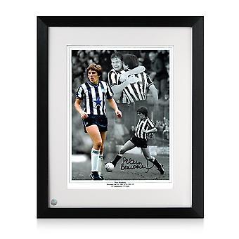 Framed Peter Beardsley Signed Newcastle United Photo