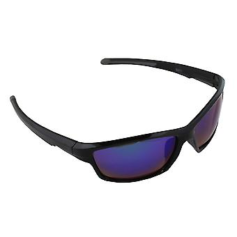 Sunglasses UV 400 Sport rectangle polarizing glass purple reflective S371_7 FREE BrillenkokerS371_7