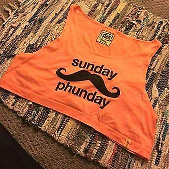 Team phun sunday phunday crop top orange
