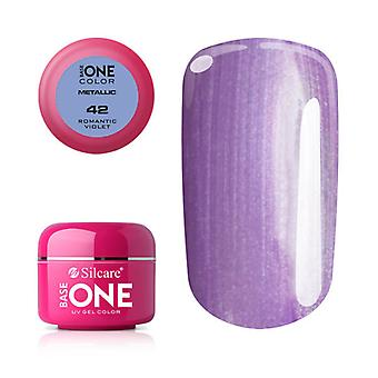 Base one-Metallic-Romantic Violet 5g UV Gel