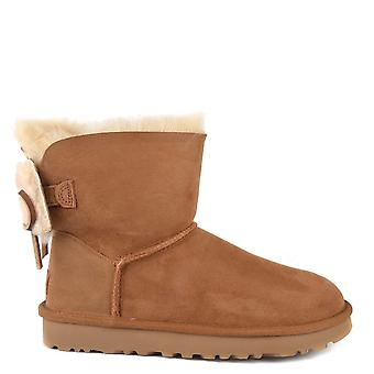 UGG Classic Double Bow Mini Chestnut Boot