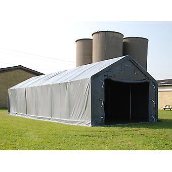 Capannone tenda PRO 5x12x2x3,39m, PVC, Grigio