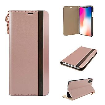 iPhone X Pink Shimmer Folio