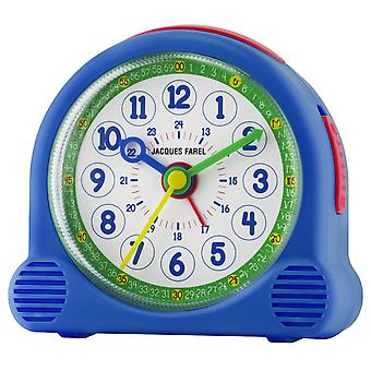 JACQUES FAREL Children's Alarm Clock Wekker gelukkig analoge Quartz jongens ACL 04 blauw