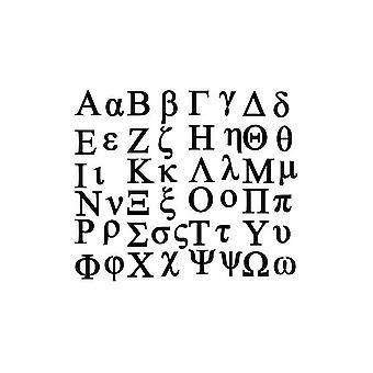 Planche Autocollant Sticker Adhãƒâ©Sif Alphabet Lettre Grecs Grecque Gommette
