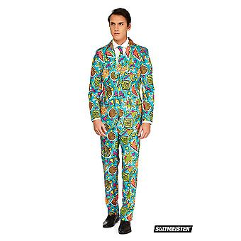 Graffiti 90s pak kostuum Suitmaster Slimline Economy 3-delig