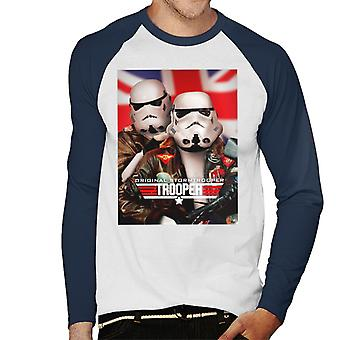 Original Stormtrooper top Trooper parodi mænd ' s baseball langærmet T-shirt