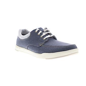 Clarks Step Isle Lace menns blå lerret casual mote joggesko sko