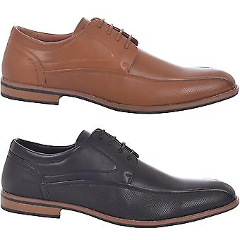 Duke D555 mens grote & Tall kingsize Vance formele Smart Lace up Oxford schoenen