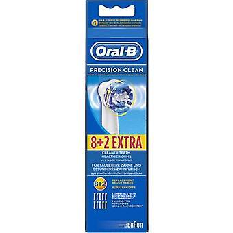 Oral-B tarkkuus puhdas sähkö hammas harja harja liitteet 10 kpl valkoinen