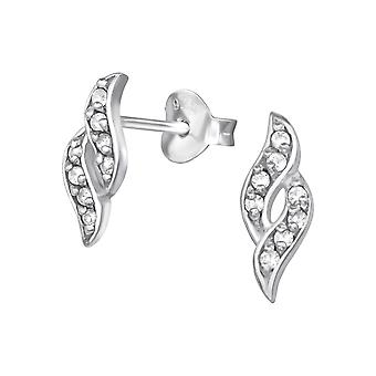 Marquise - 925 Sterling Silver Cubic Zirconia Ear Studs - W19344X