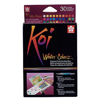 Koi Water Colors Pocket Field Sketch Box (30 Colours)