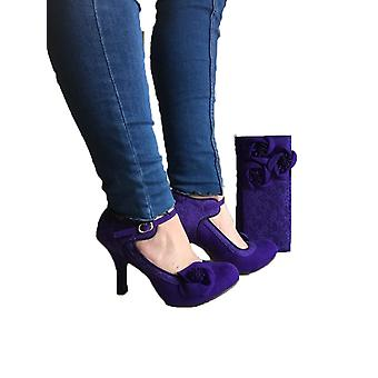 Ruby Shoo Women's Royal Purple Anna Lace Mary Jane Pumps
