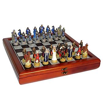 King Arthur Court Chess Set With Chest Style Board