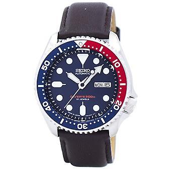 Seiko Automatische Diver's Verhältnis dunkelbraun Leder Skx009j1-ls11 200m Men's Uhr