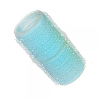 Hair tools cling rollers light blue 28mm x12