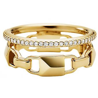Anillo Michael Kors MKC1025AN710 - MERCER LINK Silver Dor Mujeres