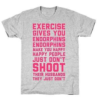 Übung gibt Ihnen Endorphine T-shirt