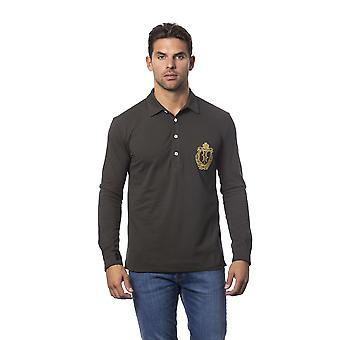 Long-sleeved Polo Green Military Billionaire Man