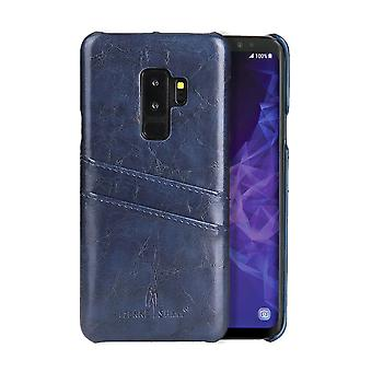Para Samsung Galaxy S9 Blue Deluxe Leather Back Wallet Card ShockProof Phone Case