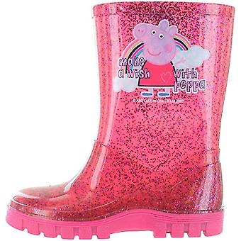 Christmas Shop flickor peppa gris glitter Wellingtons