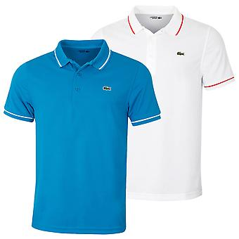 Lacoste Herren 2020 Gerohrte technische Pique Baumwolle atmungsaktive Polo Shirt