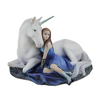 Anne Stokes Blue Moon Unicorn Hand Painted Fantasy Statue