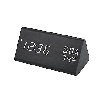 Digital Alarm Clock, Triangular - Black