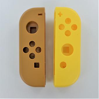 Replacement housing shell for nintendo switch joy con controllers - pokemon style brown & yellow | zedlabz