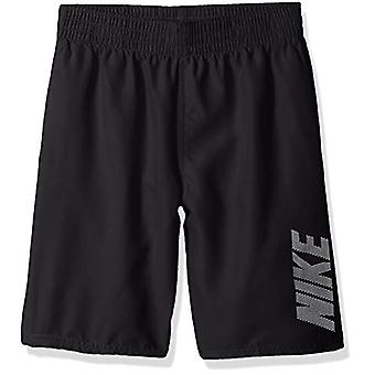 Nike Swim Boys-apos; Big Logo Solid Lap Volley Short Swim Trunk, Noir, Grand