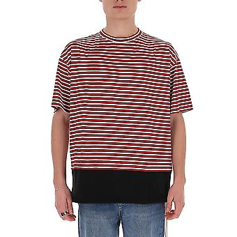 Marni Humu0034qsstj295y4316 Men's Red Cotton T-shirt