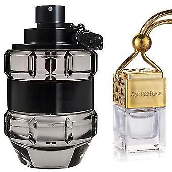 Viktor & Rolf Spice Bomb For Him Inspired Fragrance 8ml Gold Lid Bottle Car Air Freshener