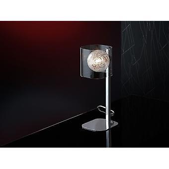 Schuller Eclipse - Tischleuchte aus 1 Licht aus Metall, Chrom-Finish. Geformte Glastöne, Innenkugel mit Glasfilamenten verziert. Stecker Typ G (UK). - 506625UK